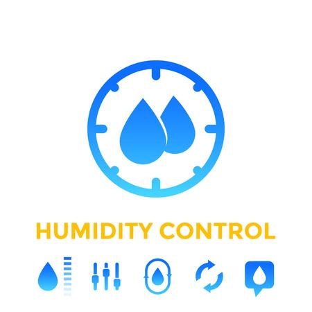 humidity control icons set
