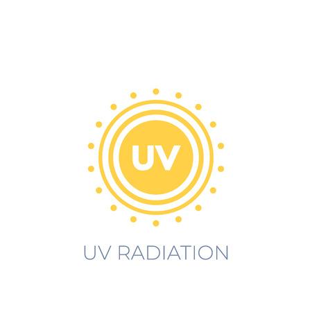UV radiation vector icon on white