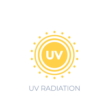 UV radiation vector icon on white