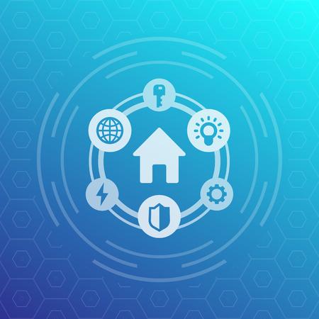 Smart house icon.
