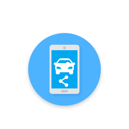carsharing vector icon for apps and web