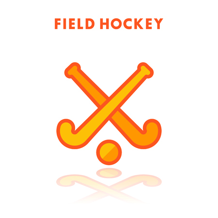 Field Hockey icon isolated on white background. Vector illustration.