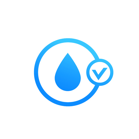 moistening vector icon on white