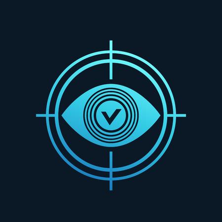 Retina scanning icon.