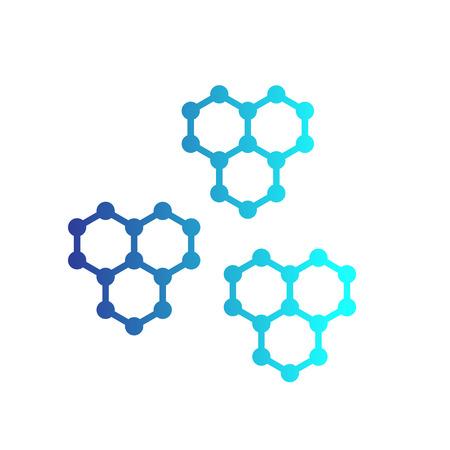 Graphene structures vector illustration design. Ilustracja