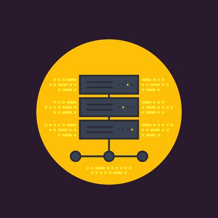 server, hosting services icon Vector illustration.
