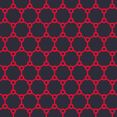 Graphene structure vector illustration