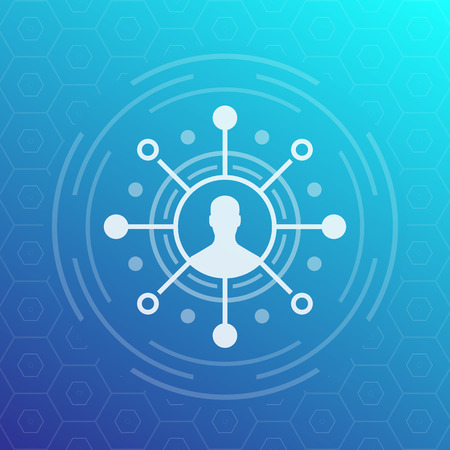 Shareholder, investor icon Illustration