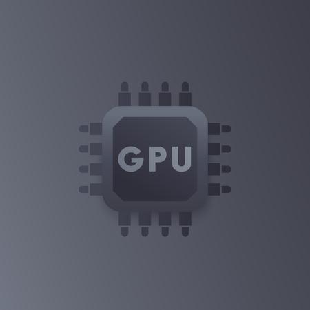 GPU, graphic chipset vector icon