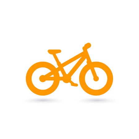 Fat bike icon, isolated on white background.