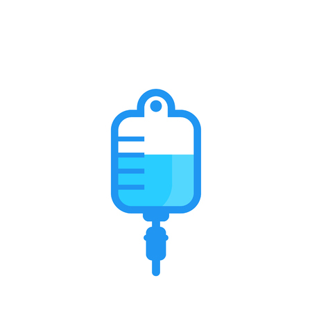iv bag, drip icon isolated on white. Vector illustration.