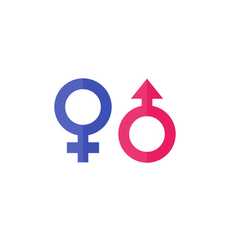 gender vector icons isolated on white background.