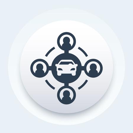 car-sharing concept icon Vector illustration. Vettoriali