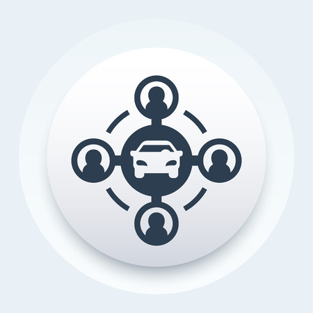 car-sharing concept icon Vector illustration. Vectores