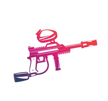 Paintball gun, isolated on white background. Foto de archivo - 99947137