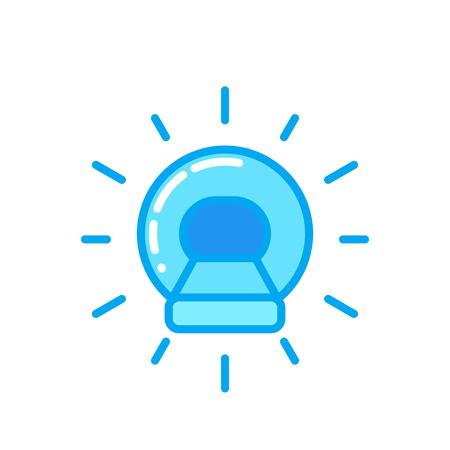 MRI, CT scanner vector icon illustration. Illustration