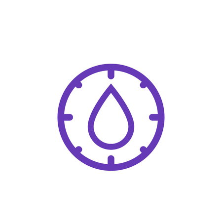 humidity control icon on white. Vector illustration.