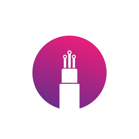 optic fiber cable vector icon 일러스트