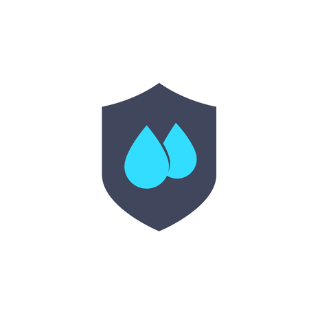 Waterproof, water resistant icon illustration.