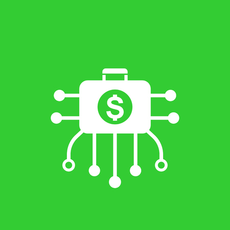 diversified portfolio vector icon