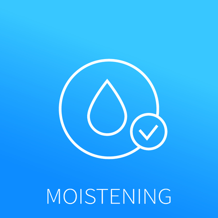 moistening line icon Vector illustration. Vectores
