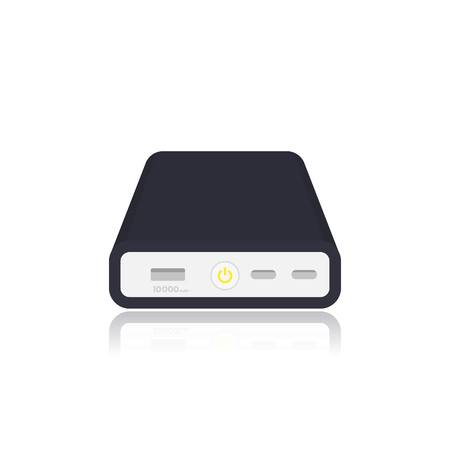 power bank isolated on white. Vector illustration.