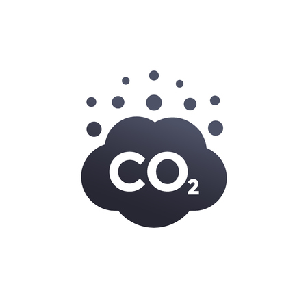 Co2 emissions vector icon illustration on white background.