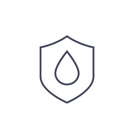 waterproof vector line icon Ilustração