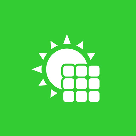 Solar panel icon, vector pictogram illustration. Illustration
