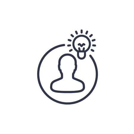 Idea, insight line icon vector illustration.