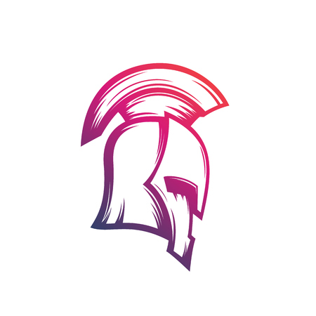 Spartan warrior helmet vector icon illustration.