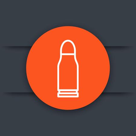 Pistol bullet vector icon illustration.