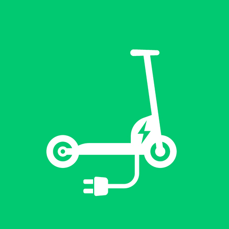 Kick scooter, electric version vector illustration. Illustration