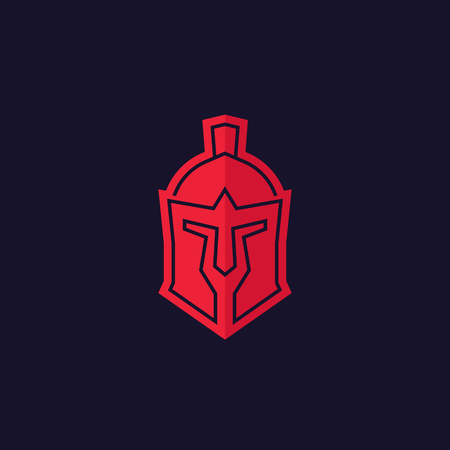 Spartan helmet vector logo Illustration