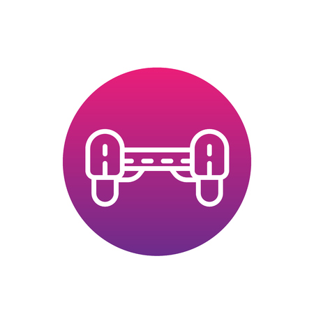 Hover board icon, linear vector sign illustration.