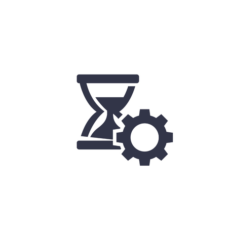 Productivity, time management icon on white background.