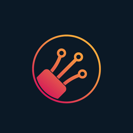optical fiber vector logo