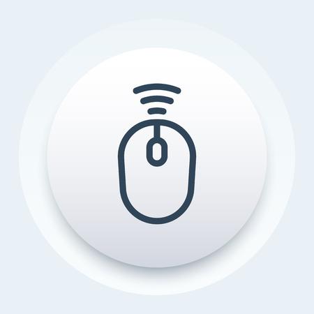 Wireless mouse vector icon illustration. Ilustração