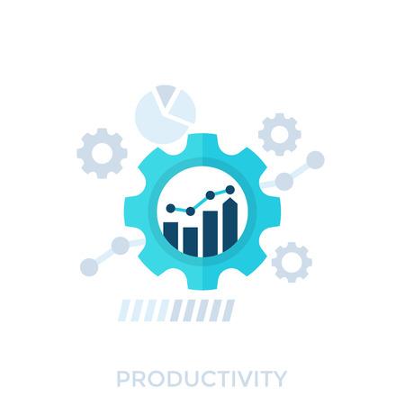 productivity, productive capacity, performance analytics vector illustration 일러스트