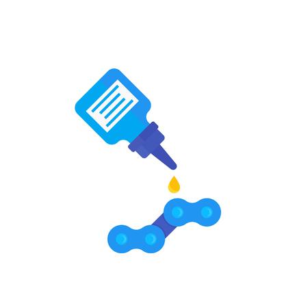 lubricant, oil for bike chain vector illustration