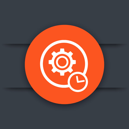 production cycle vector icon