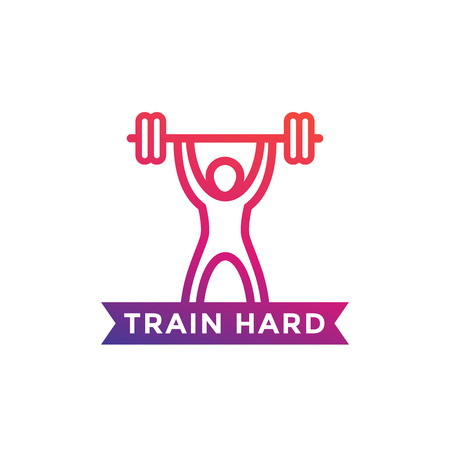 gym training vector illustration on white