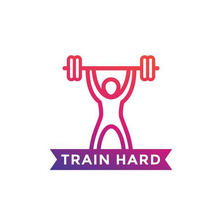 gym training vector illustration on white