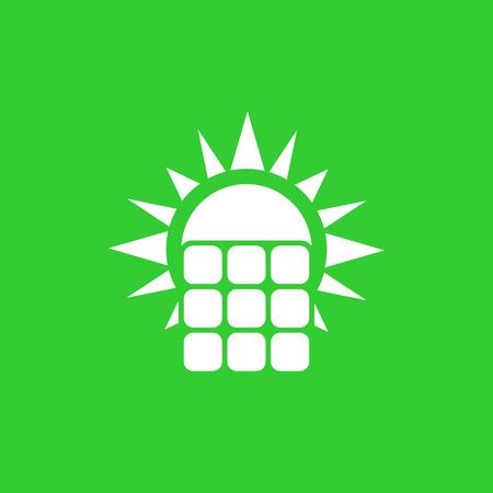 ikona panelu słonecznego, wektor