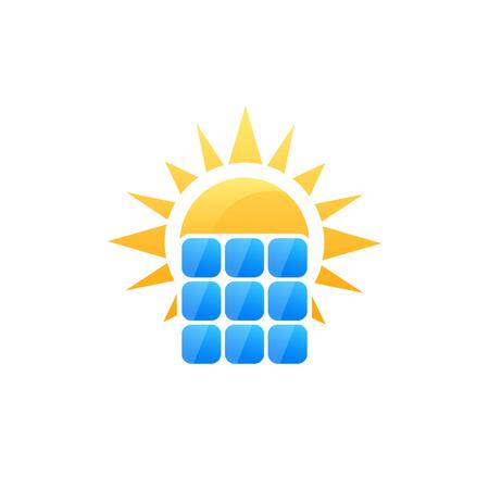solar panel vector logo Иллюстрация