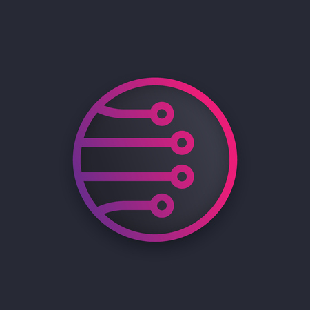 Optical fiber vector icon design. Illustration
