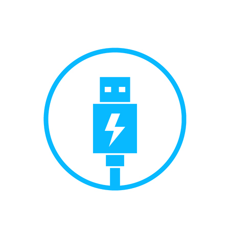 usb charging plug icon Stock Illustratie