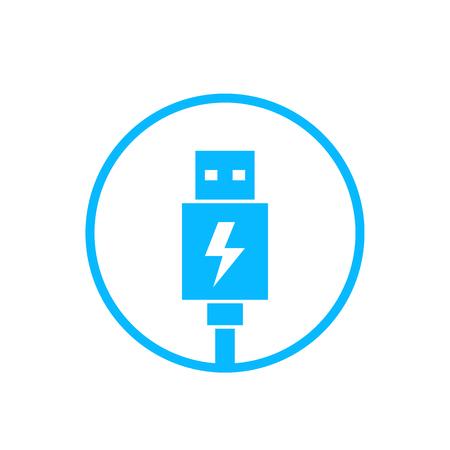 usb charging plug icon Illustration
