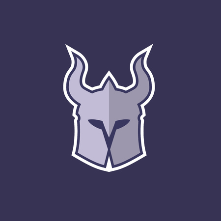helmet with horns logo concept