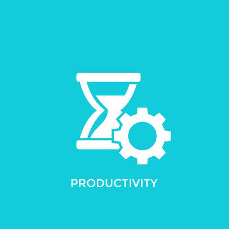 productivity vector icon Stock Illustratie